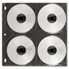 Ideastream 8-Capacity CD/DVD Binder Sleeves