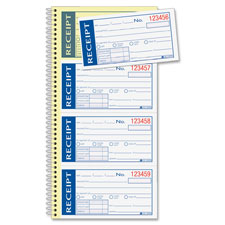 "Write n' stick receipt book, 2-part, 5-1/4""x11, sold as 1 each"