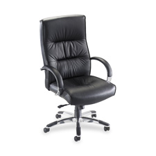 "Exec. hi-back chair,25-1/2""x28""x42-1/2"" to 45-1/4"",bk lthr, sold as 1 each"
