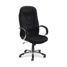 Lorell Airseat Series Exec. High-Back Fabric Chair