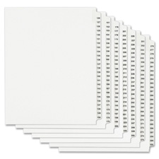 Avery Style Individ Legal Exhibit Number Dividers