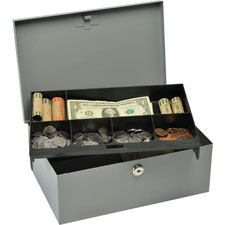 MMF Industries Heavy-gauge Steel Cash Box w/Lock