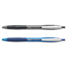 Retractable ballpoint pen,refillable,medium point,2/pk,black, sold as 1 package, 2 each per package