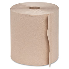 """Hardwound roll towels,2""""core, 7-7/8""""x350', 12rolls/ct,natrl, sold as 1 carton"""