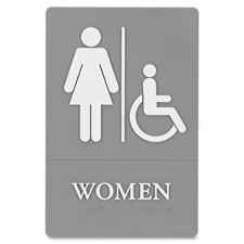 Quartet ADA Women Access Sign