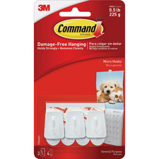 3M Command Micro Hooks w/ Strips