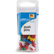 Pushpins, 75/pk, ast, sold as 1 package, 150 each per package