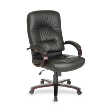 Office Star Executive High Back Leather Chair