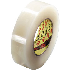 Stretchable tape, 36mmx55m, 28 lb/inch width, clear, sold as 1 roll