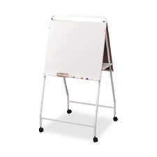 "Eco easel w/wheels,double-sided,29-3/4""x28-3/4""x58"",we frame, sold as 1 each"