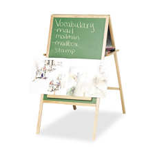 Instructional easel, magnetic, double-sided w/oak tray, sold as 1 each