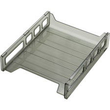 "Letter tray, front load, 10-1/2""x12-1/2""x2-7/8"", smoke, sold as 1 each"