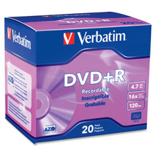 Verbatim DVD+R Recordable Media
