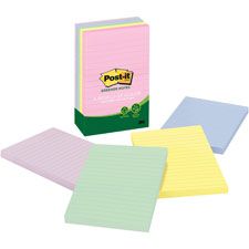 3M Post-it Notes Recycled Asst. Pastel Lined Pads