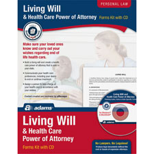 Living will/power of attorney for health care kit, sold as 1 kit