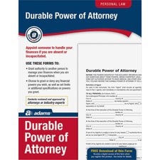 General power/attorney form,individual will handle finances, sold as 1 each