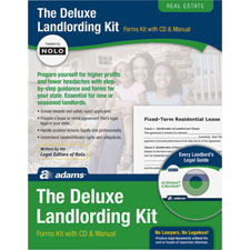 Landlording kit, includes 21 forms/user manual, sold as 1 kit