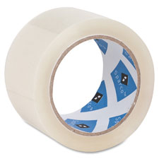 "Packaging tape roll, 3"" core, 3.0 mil, 2""x55 yds, cl, sold as 1 roll"