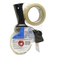 "Hvy-duty tape dispenser set,3"" core,2""x55 yds,2 rolls/pk,cl, sold as 1 package, 4 roll per package"