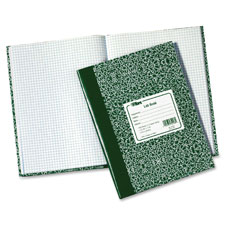 "Lab notebook, 10-3/8""x7-7/8"", 60 shts, green marble cover, sold as 1 each"