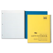"Lefty kraft notebook,1-subject,college ruled,11""x9"",80 sheet, sold as 1 each"