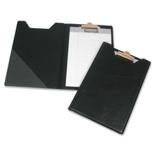 "Pad holder, w/ clip, inside pocket, 8-1/2""x5-1/2"", black, sold as 1 each"