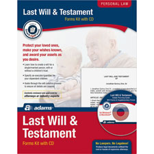Last will/testament kit, includes all forms needed, sold as 1 kit