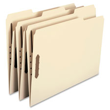 Smead Recycled 2-Ply Manila Folders w/ Fasteners