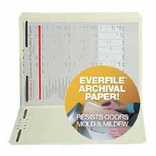 SJ Paper Archival File Folders w/ Fasteners