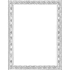 "Blank certificates, 11""x8-1/2"", 12/pk, silver flourish, sold as 1 package"