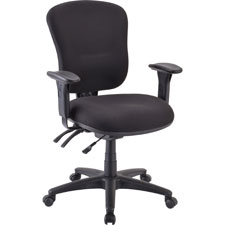"Mid-back task chair, 26-3/4""x26""x39-1/4""-42"", black, sold as 1 each"