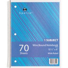 Sparco Quality Wirebound Notebooks