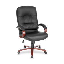 "Executive high-back chair, 26-1/2""x30""x46-1/4"", my/bk lthr, sold as 1 each"