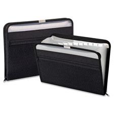 Globe Weis 13-Pocket Fabric Zip Closure Files