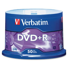 Verbatim 16X Speed Branded DVD+R Spindle