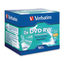 Verbatim DVD-RW Rewritable Discs