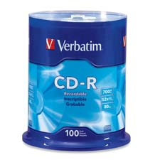 Verbatim 52X Speed Branded CD-R