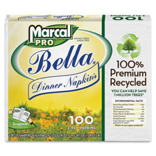 Marcal Pro Bella 2-Ply Dinner Napkins