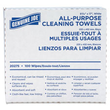 "Towels, cleaning, reusable, 9-1/2""x17"", 100/bx, white, sold as 1 box"