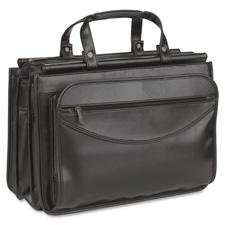 US Luggage Leather Look Quad Gusset Portfolio