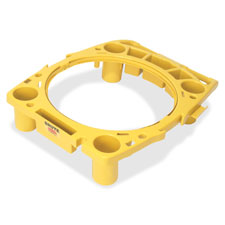 "Rim caddy, 26-1/2""x32-1/2""x6-3/4"", yellow, sold as 1 each"