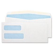 "Double window envelope,no 8-5/8,3-5/8""x8-/5/8"",500/bx,white, sold as 1 box, 100 each per box"