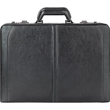 US Luggage Leather Expandable Computer Attache