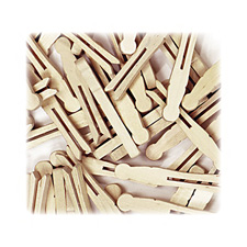 Chenille Kraft Natural Flat-Slotted Clothespins