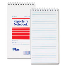 Tops Gregg Rule Reporter's Notebooks