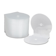 Cd/dvd cases, clamshell, plastic, 25/pk, clear, sold as 1 package, 4 each per package