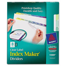 Avery 8-Colored Tabs Presentation Dividers