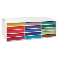 Pacon 15-Shelf Construction Paper Storage Unit
