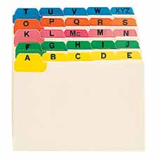 Smead A-Z Indexed Card Guides