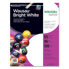 Wausau Bright White 65lb Cardstock Paper